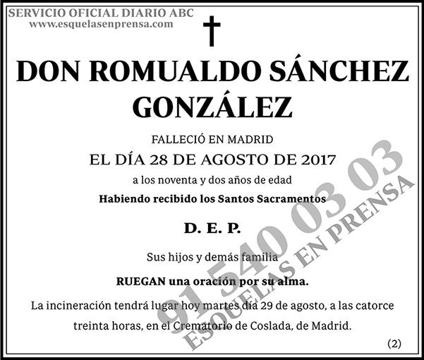 Romualdo Sánchez González
